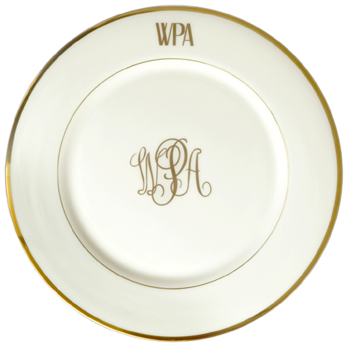 $105.00 Monogrammed Charger  sc 1 st  Crystal Plate & Pickard Monogram ~ Dinnerware ~ Monogrammed Charger Price $105.00 ...