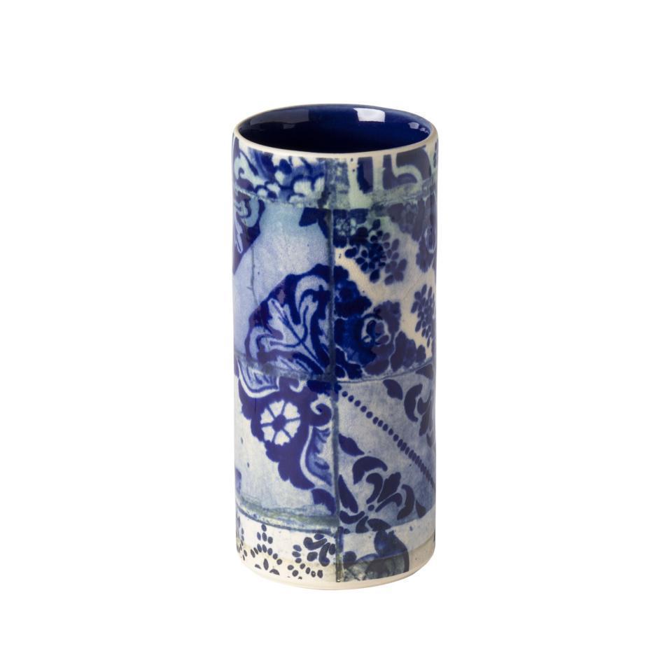 Lisboa Cylinder Vase 8 inch