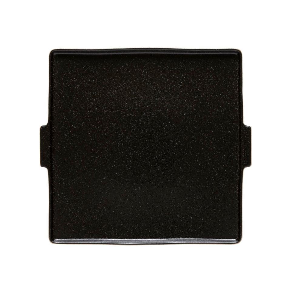 Notos Latitude Black  Square Serving Plate 12 inch