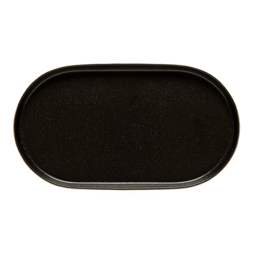 Notos Latitude Black  Oval Platter 15 inch