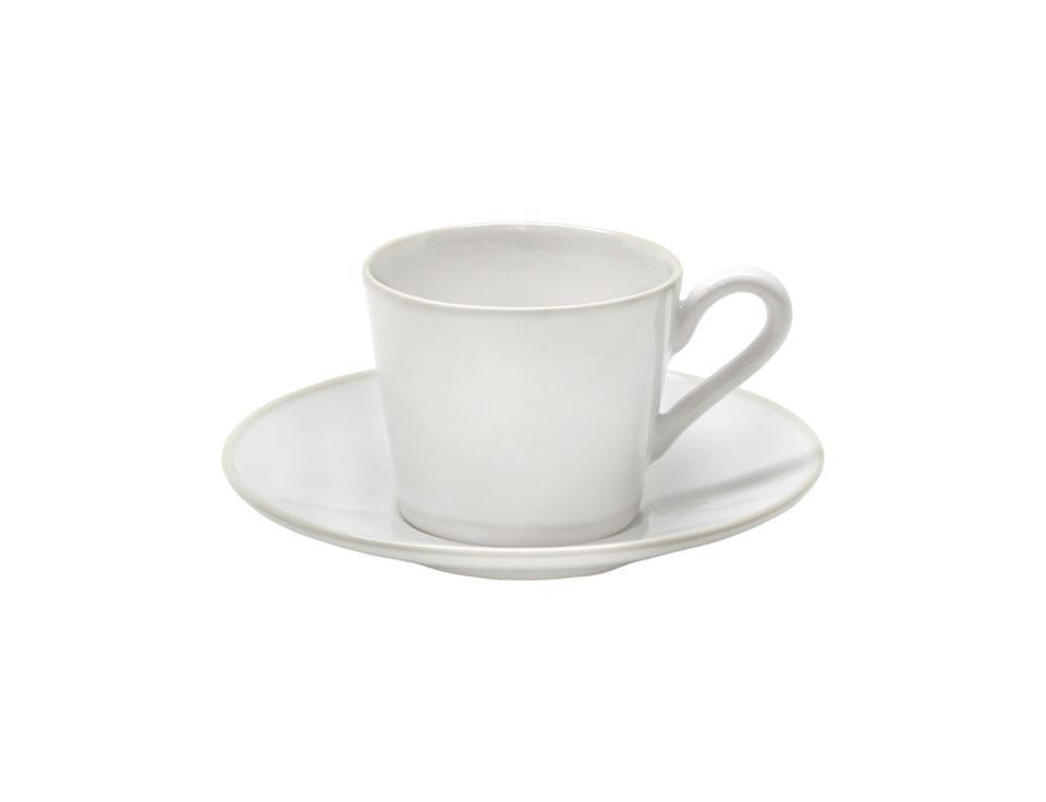 Astoria - White Tea Cup and Saucer