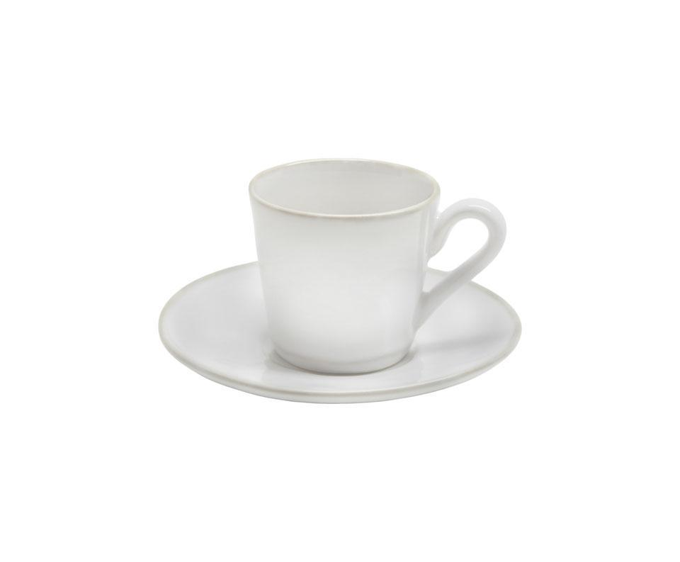 Astoria - White Coffee Cup and Saucer