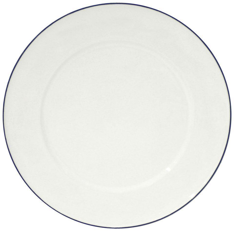 Beja - White Blue Charger Plate