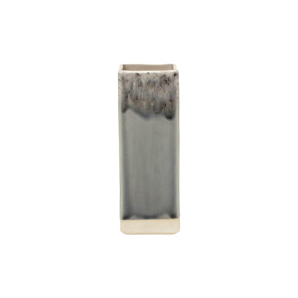 Madeira - Grey Grey Square Vase (1)