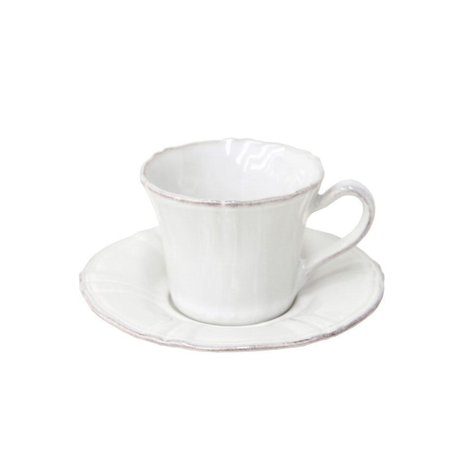 Village - White Tea Cup and Saucer