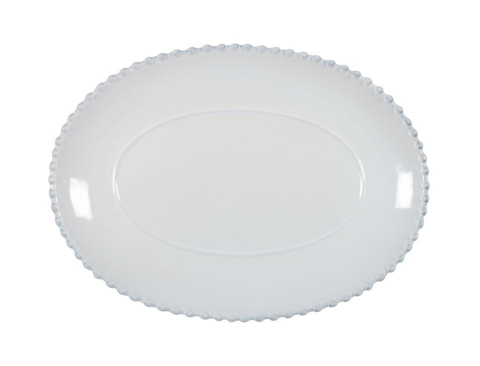 Pearl - White 13 inch Oval Platter