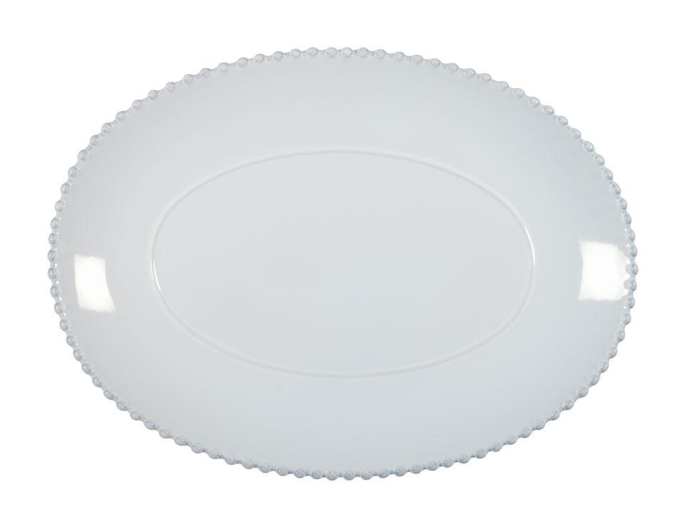 Pearl - White 15.75 inch Oval Platter
