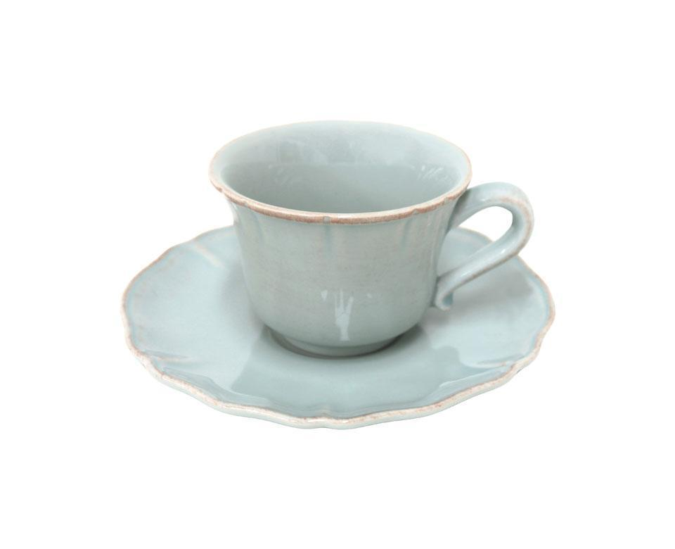 Alentejo - Turquoise Tea Cup and Saucer