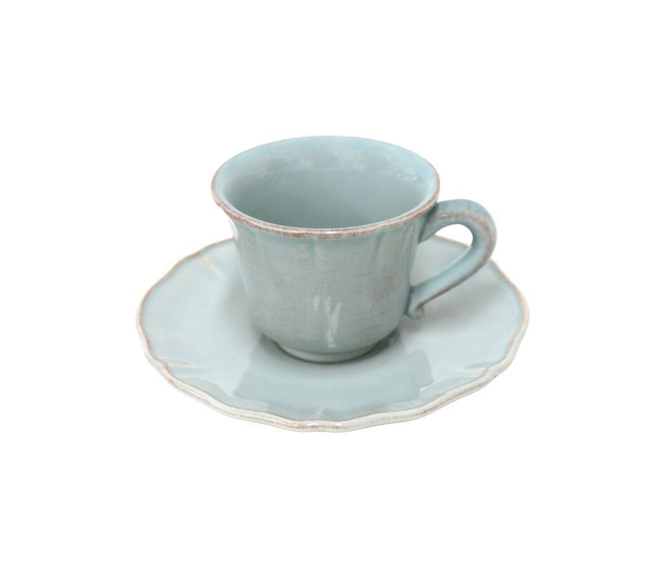 Alentejo - Turquoise Coffee Cup and Saucer