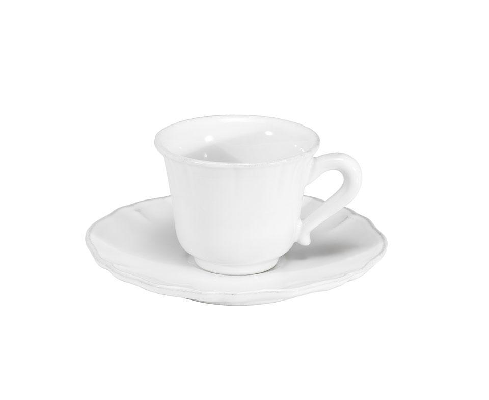 Alentejo - White Coffee Cup and  Saucer