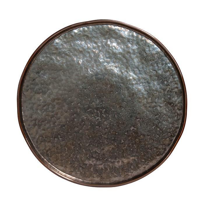Lagoa - Metal Round Platter, Charger