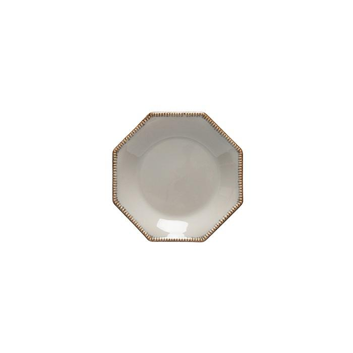 Luzia -  Ash Grey Octangular Bread Plate