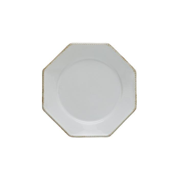 Luzia -  Cloud White Octangular Salad Plate