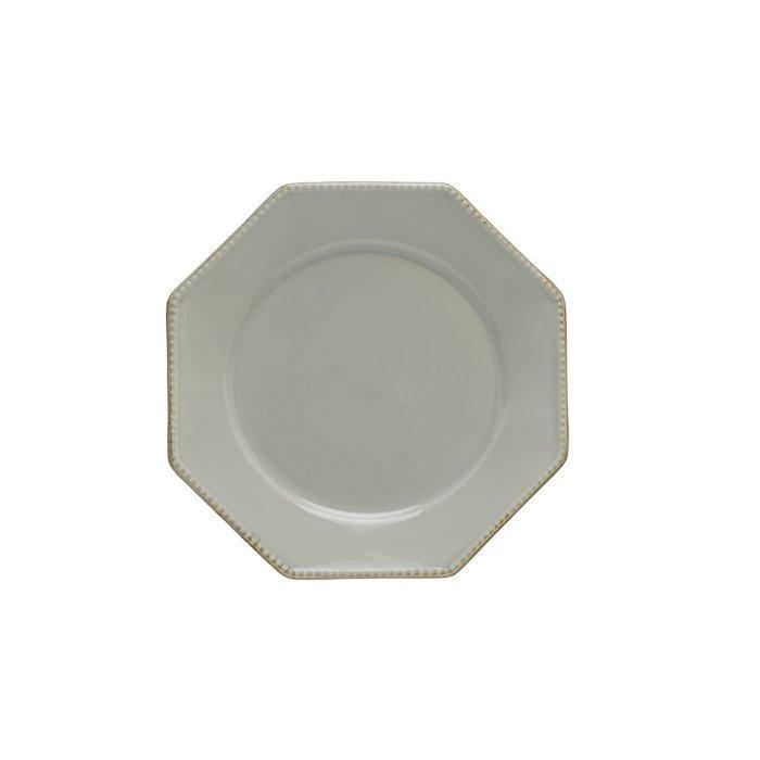 Luzia -  Ash Grey Octangular Salad Plate