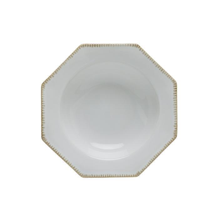 Luzia -  Cloud White Octangular Soup/Pasta Plate