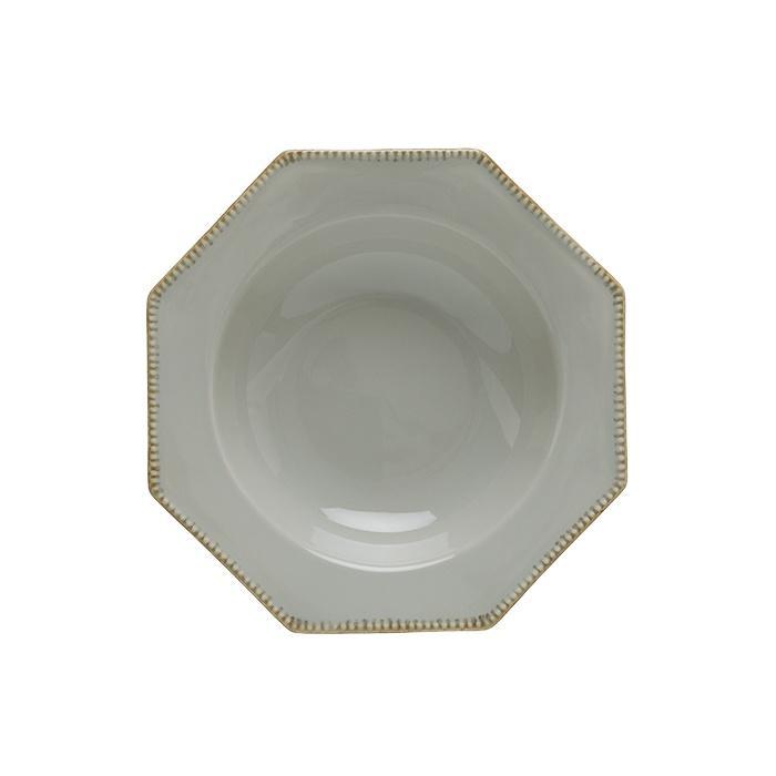 Luzia -  Ash Grey Octangular Soup/Pasta Plate