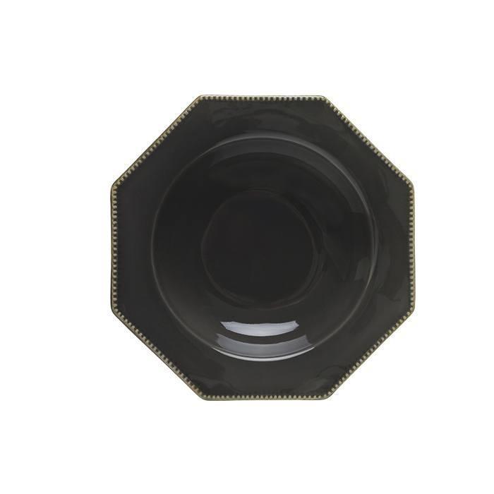 Luzia -  Slate Grey Octangular Soup/Pasta Plate