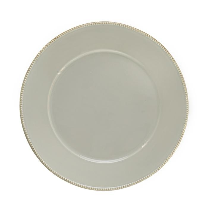 Luzia -  Ash Soft Grey Charger Plate/Platter