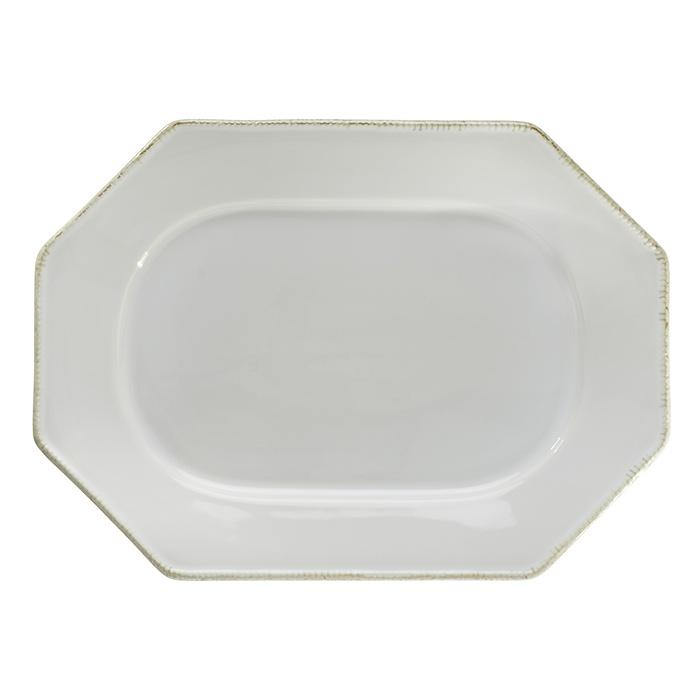 Luzia -  Cloud White Oval Platter