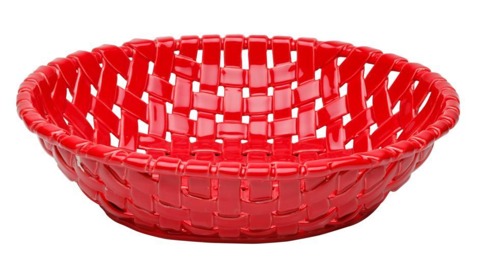 Next · Large Oval Basket, Red