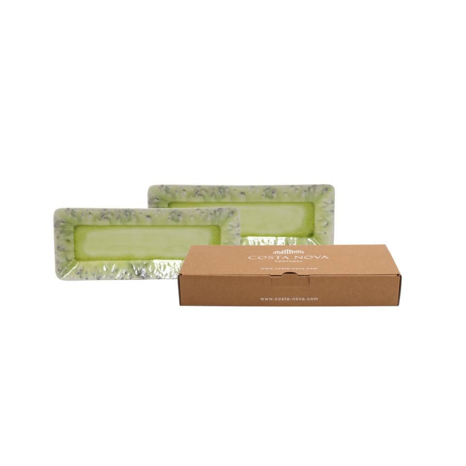 Madeira - Lemon Set/2 Rectangular Trays