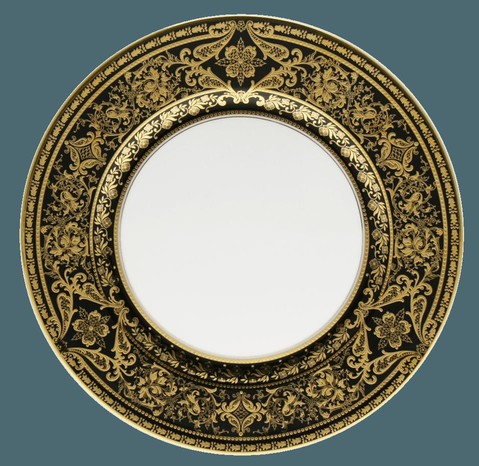 $324.00 Dinner Plate  sc 1 st  Haviland USA Inc. - Bridge & Haviland ~ Matignon - Black u0026 Gold ~ Dinner Plate Price $324.00 in ...