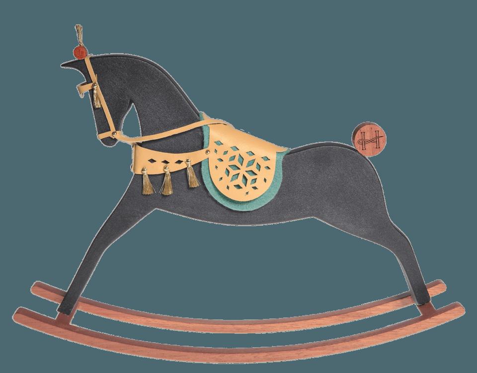$495.00 Aboukir   Black Matt Rocking Horse
