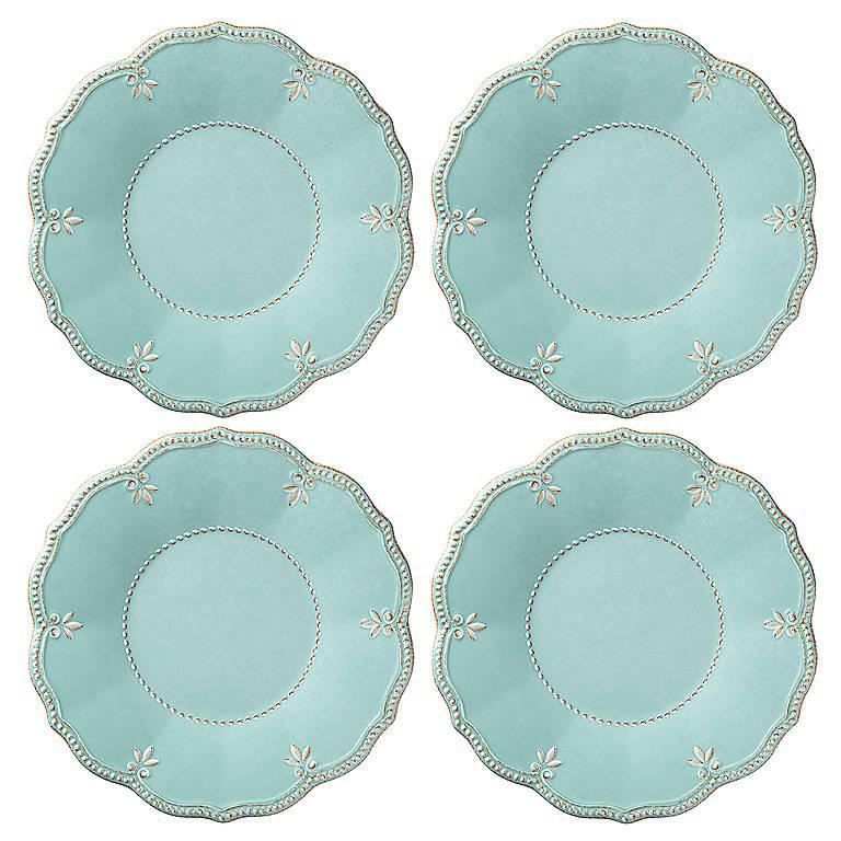 Sale $58.00 Melamine Aqua Dinner Plates