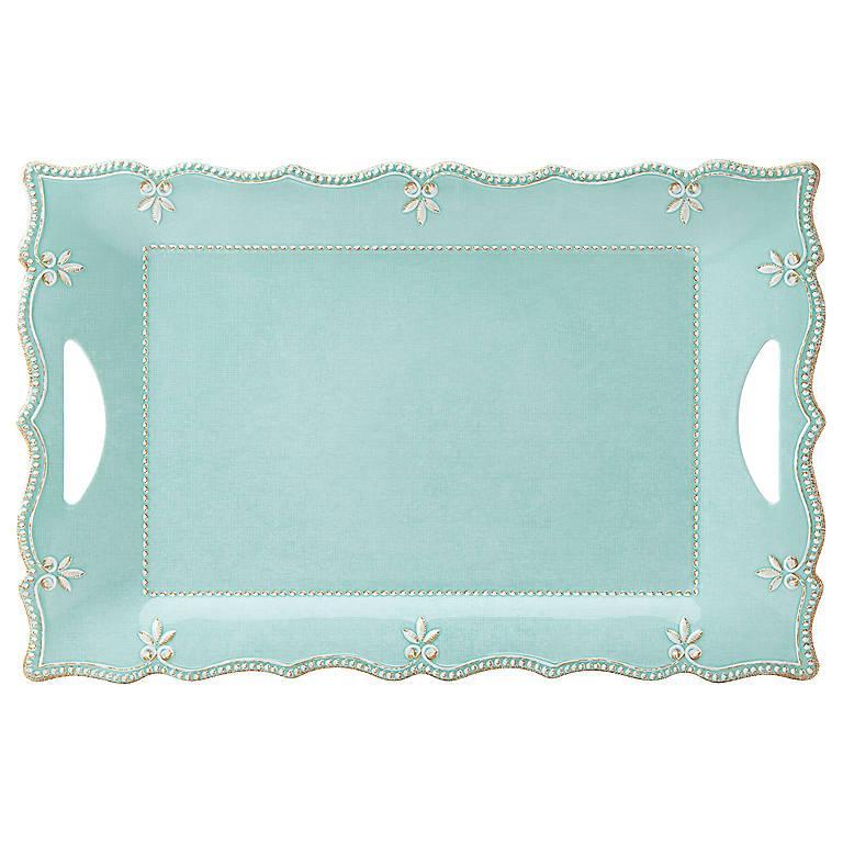 Sale $43.00 Melamine Aqua Platter