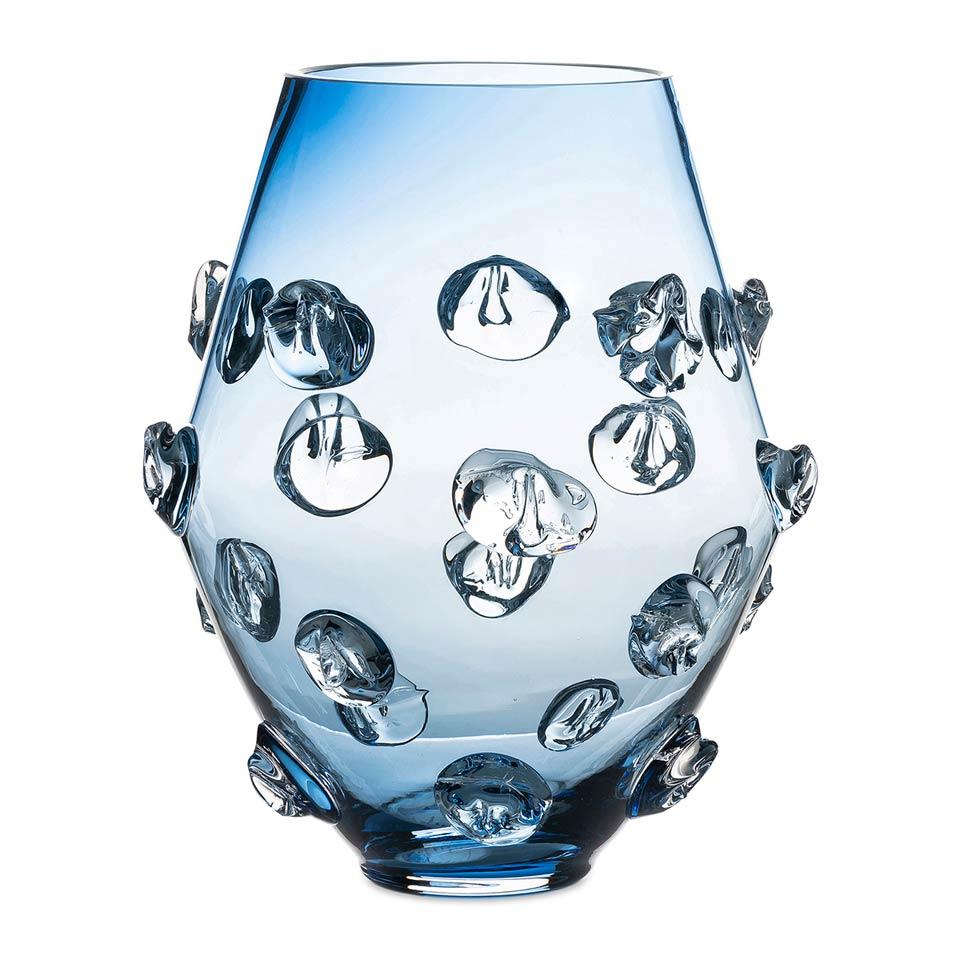 "6"" Blue Vase"
