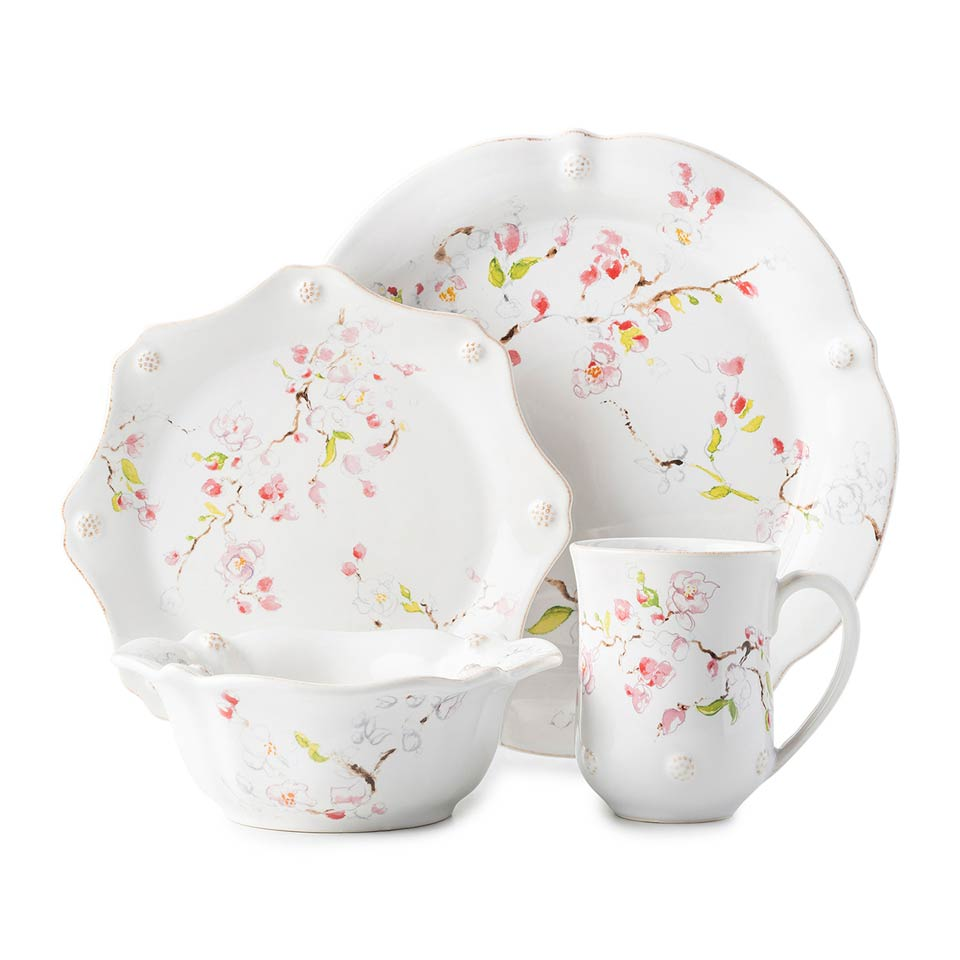 Cherry Blossom 4 pc Place Setting