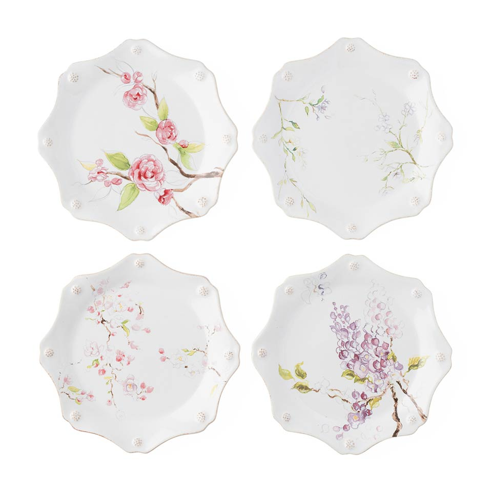Assorted Set of 4 Dessert/Salad Plates