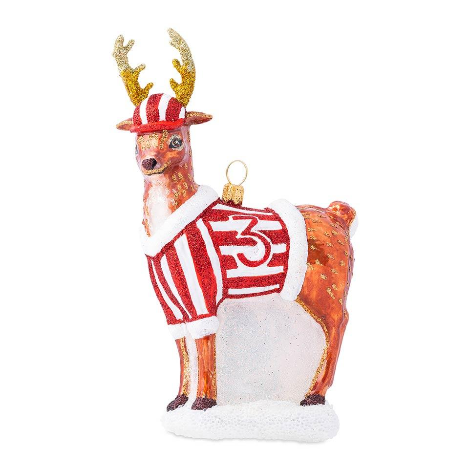 Country Estate Reindeer Games Donner the Reindeer Glass Ornament