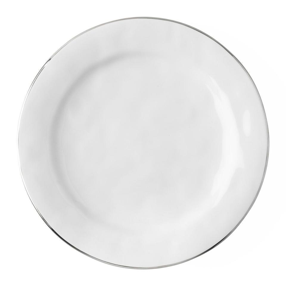 Dinner Plate with Platinum Rim