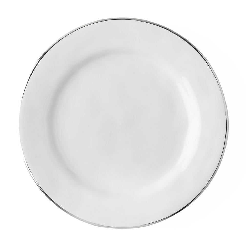 Dessert/Salad Plate with Platinum Rim