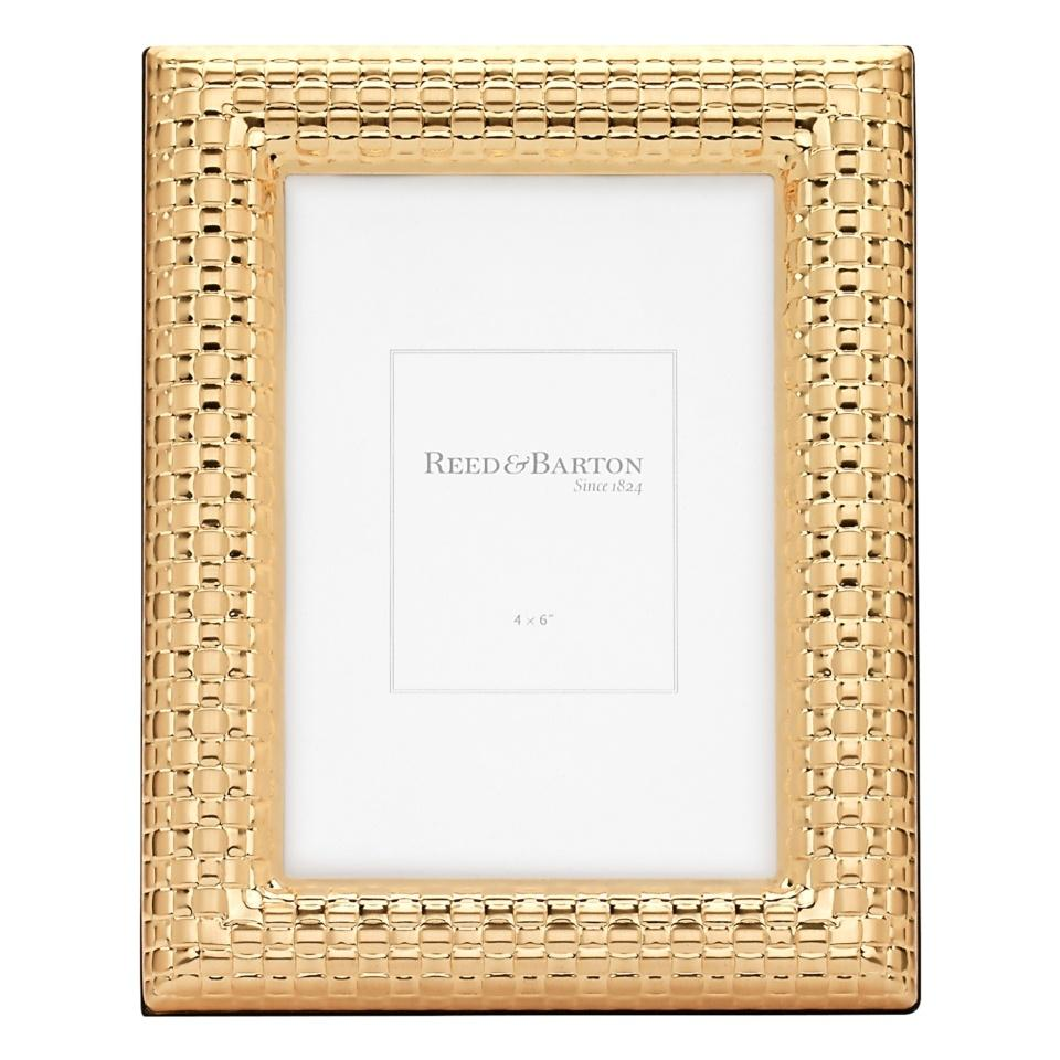 Reed & Barton ~ Gold Accent Frames ~ Watchband Gold 4 x 6 Frame ...