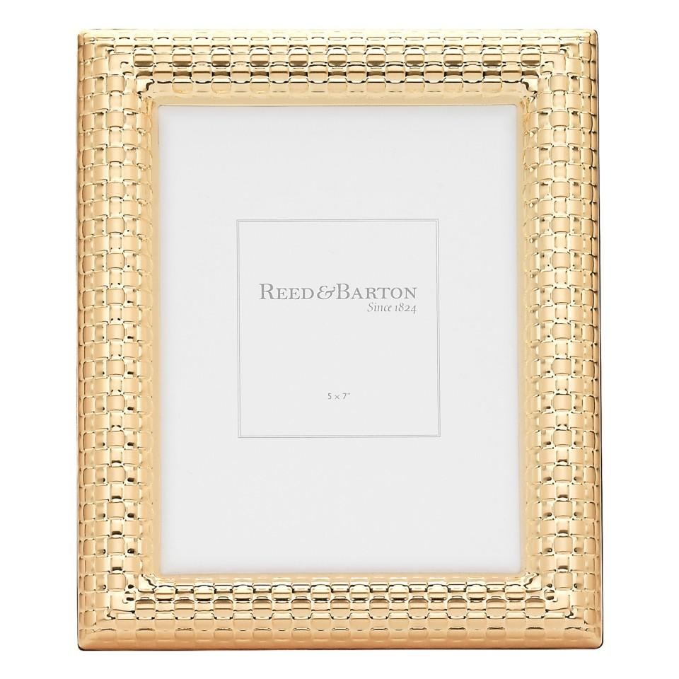 Reed & Barton ~ Gold Accent Frames ~ Watchband Gold 5 x 7 Frame ...