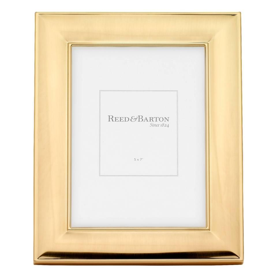 Reed & Barton ~ Gold Accent Frames ~ Newton Gold Accent 5 x 7 Frame ...
