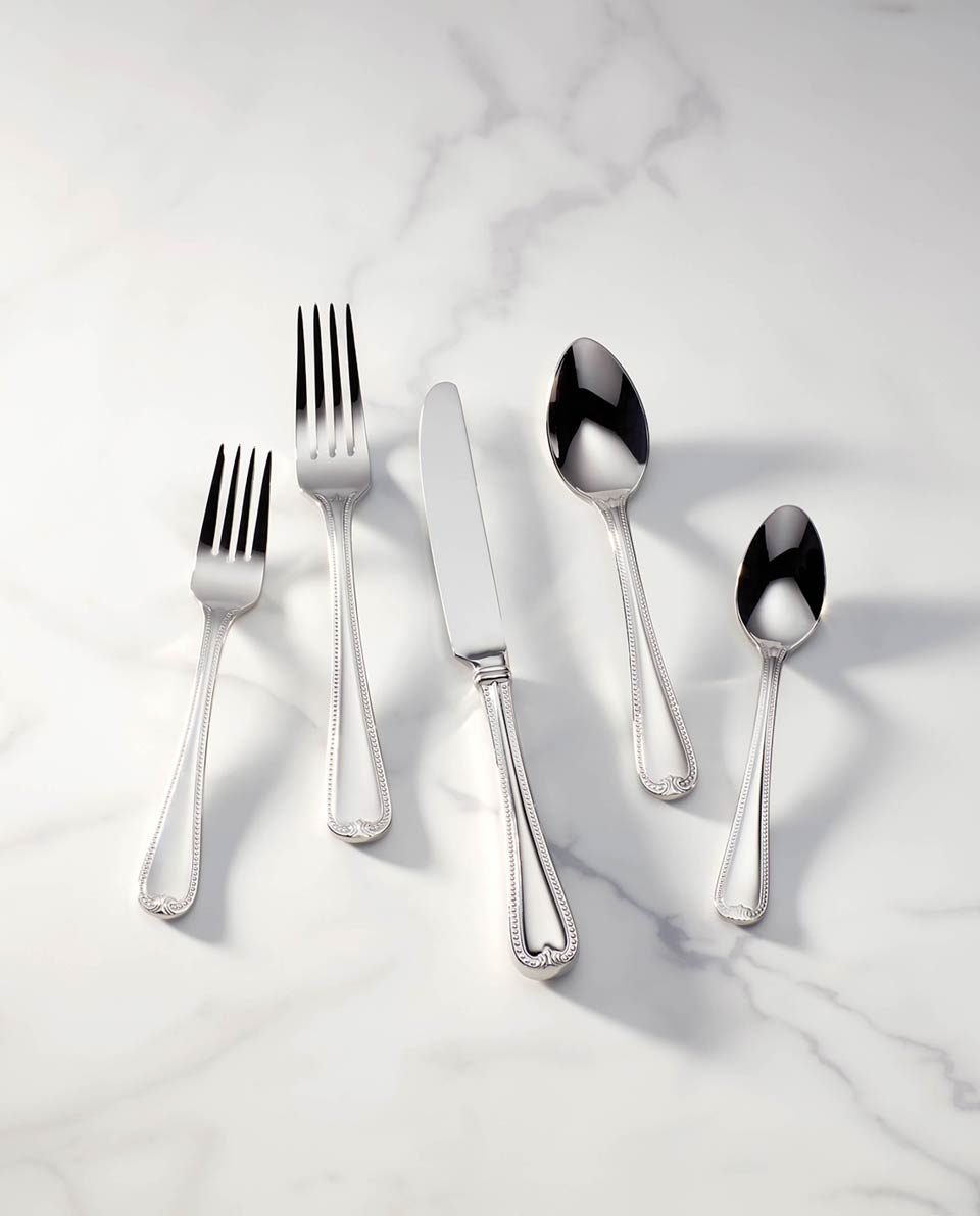 5pc Silver Place Set
