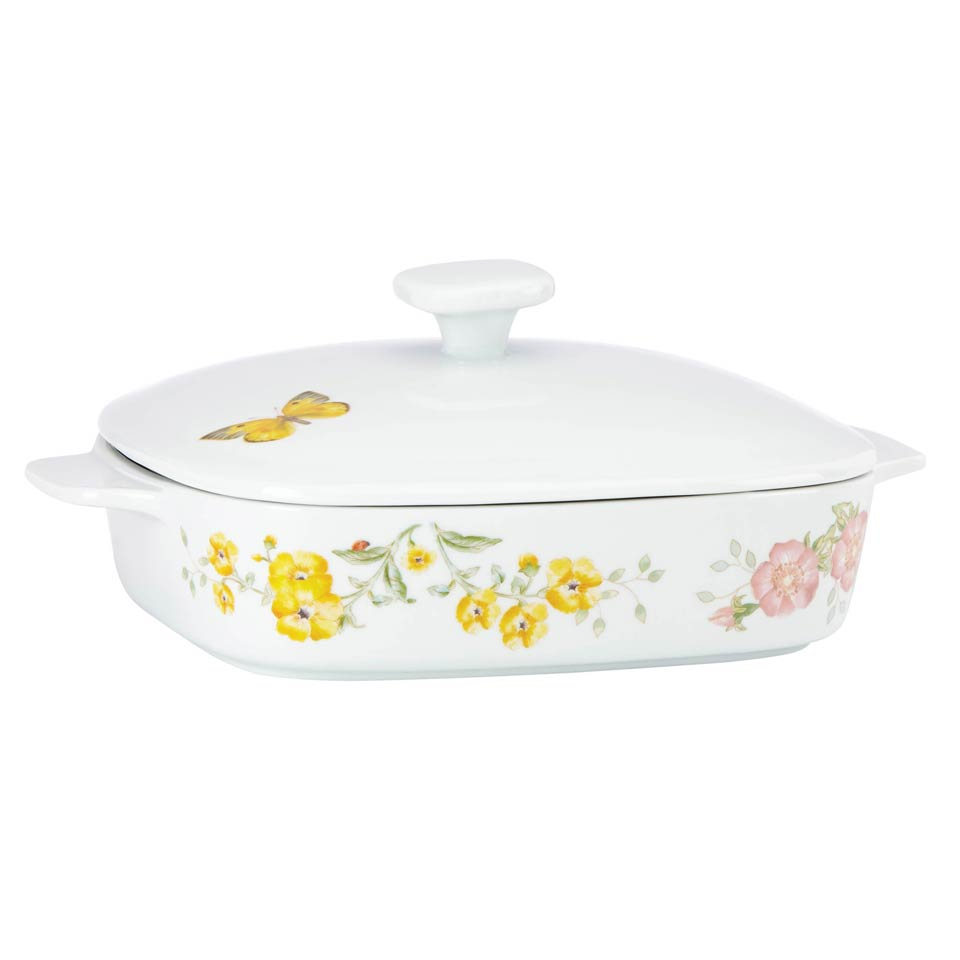 Square Covered Casserole Dish with Lid