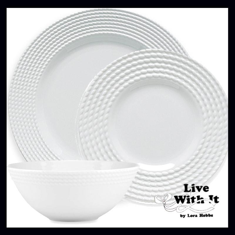 $61.00 Wickford 3 Piece Place Setting  sc 1 st  Live With It by Lora Hobbs & Kate Spade ~ Wickford Dinnerware ~ Wickford 3 Piece Place Setting Price $61.00 in Peckville PA from Live With It by Lora Hobbs