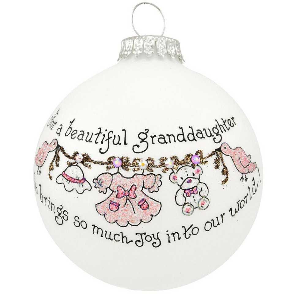 Heart Gifts by Teresa  For a Beautiful Granddaughter Ornament