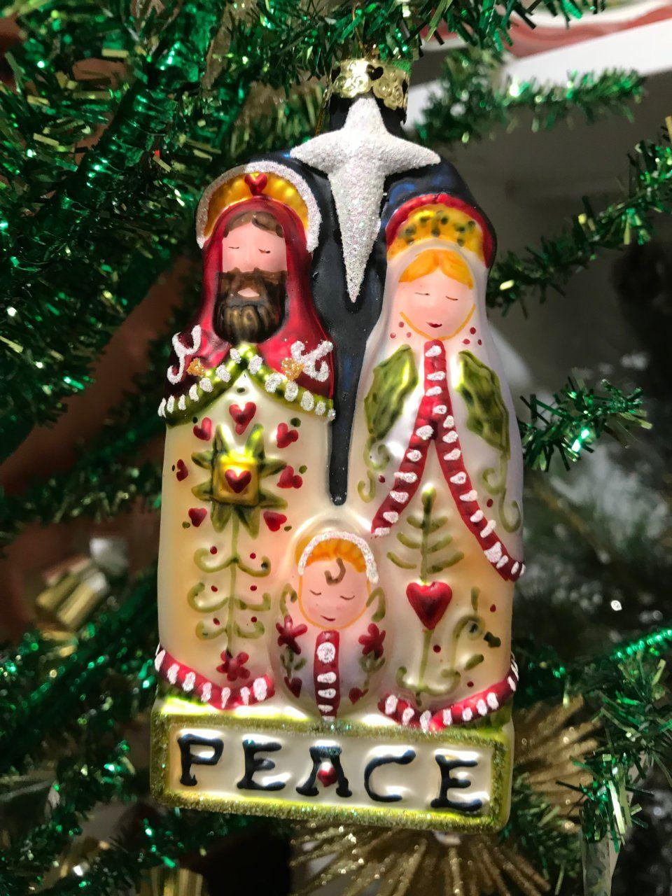 Peace Christmas Ornament.Live With It By Lora Hobbs Exclusives Christmas Ornaments Peace Holy Family Ornament Price 15 00 In Peckville Pa From Live With It By Lora
