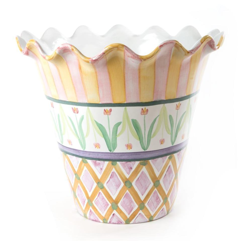 Mackenzie Childs Taylor Ceramics Taylor Jumbo Flower Pot
