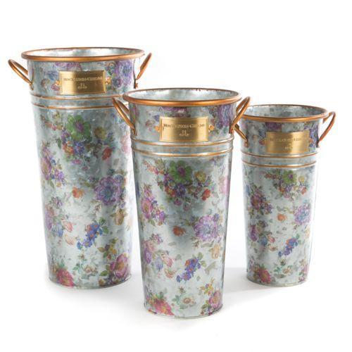 Mackenzie childs garden flower market flower buckets set of 3 6500 flower market flower buckets set of 3 mightylinksfo
