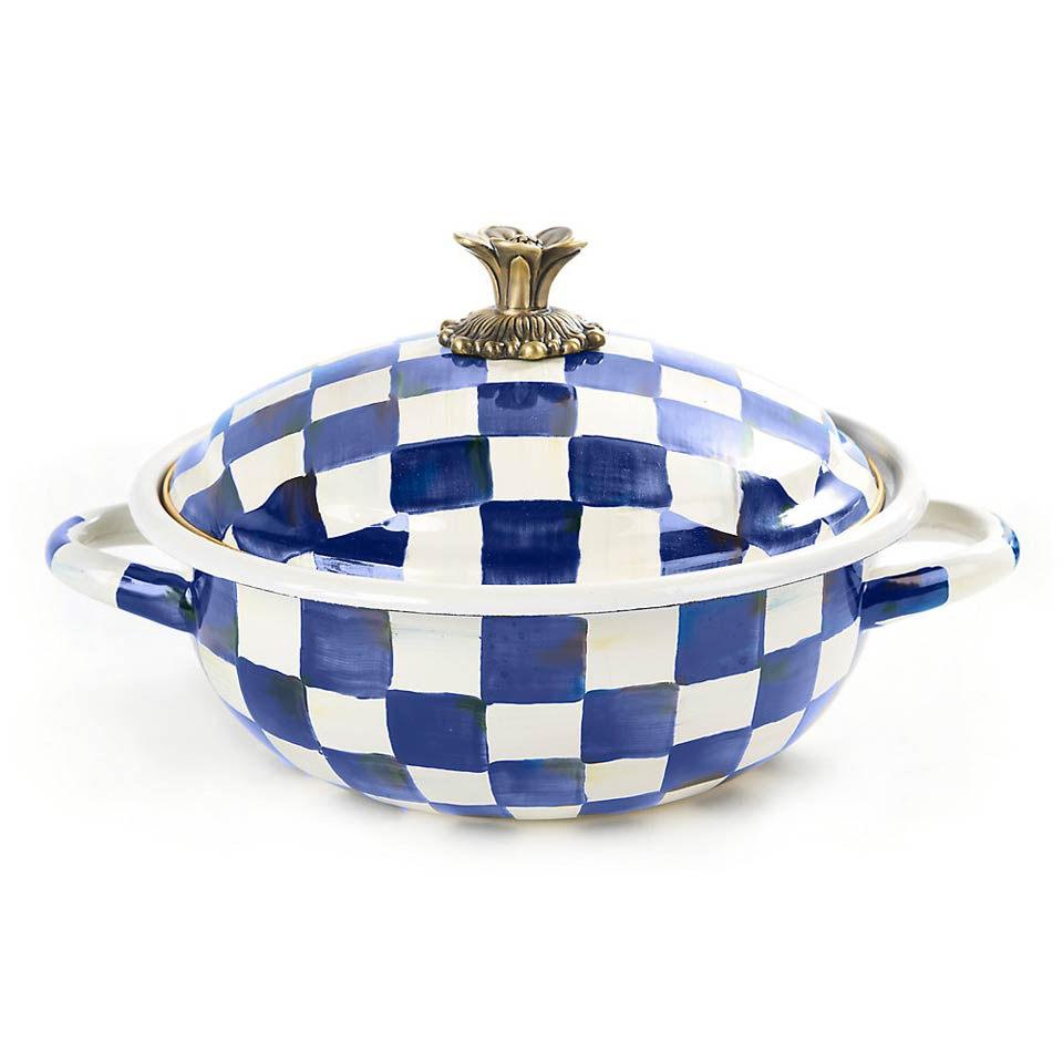 Mackenzie Childs Royal Check Kitchen Casserole Medium Price 145 00 In Rochester Ny From Parkleigh