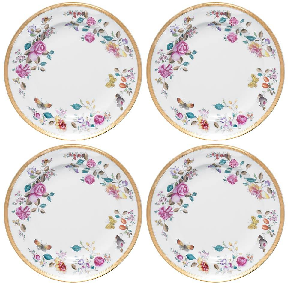 $260.00 Dessert Plates Set/4  sc 1 st  William Wayne & Mottahedeh ~ Lowestoft Garden ~ Dessert Plates Set/4 Price $260.00 ...