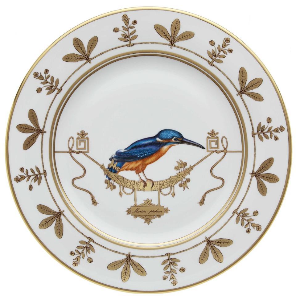 $175.00 Richard Ginori Voliere Martin Pecheur Salad/Dessert Plate  sc 1 st  Polka-Dot Penguin & Polka-Dot Penguin Exclusives ~ Dinnerware ~ Richard Ginori Voliere ...