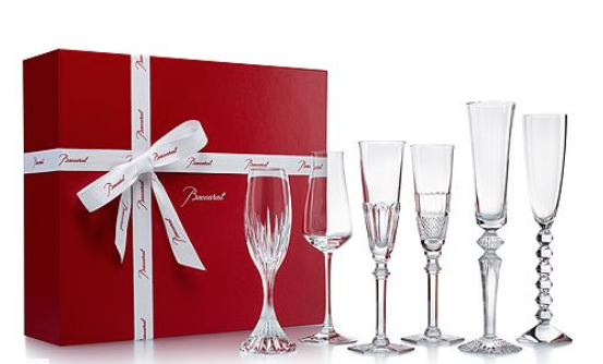 Baccarat Drinkware Cocktail Champagne Party In A Box Flutes S6