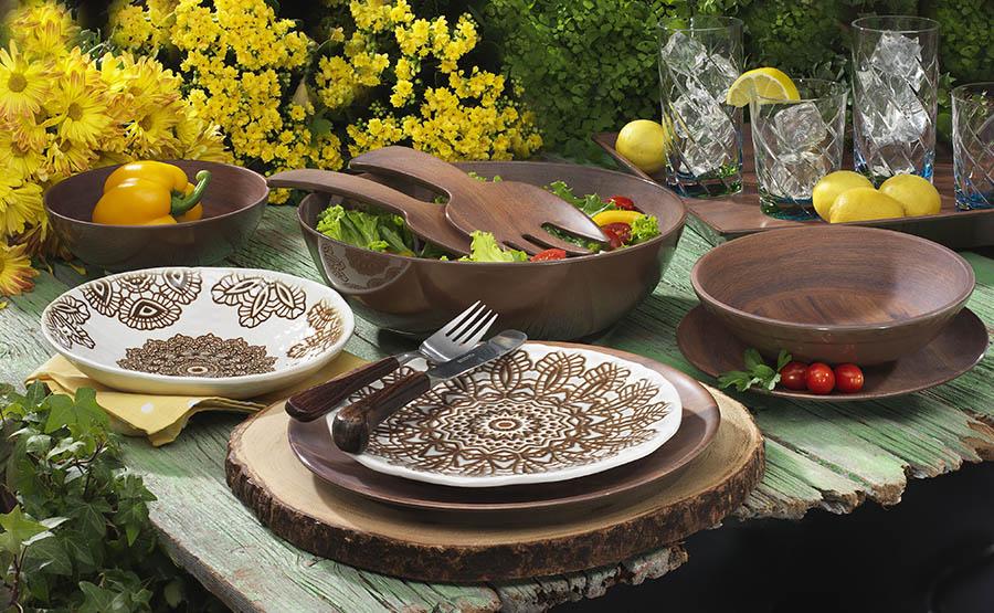 $14.00 Medallion Lace Melamine Cereal Bowl & Merritt ~ Dinnerware ~ Medallion Lace Melamine Cereal Bowl Price ...